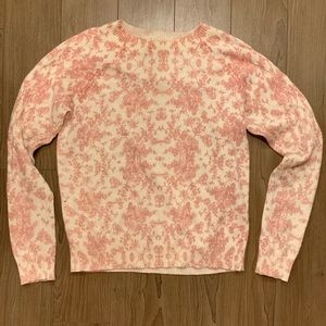 WILDFOX White Label Pink Rose Sweater